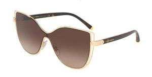 DOLCE & GABBANA DG2236 02 13 Gold Square Women's 28 mm Sunglasses