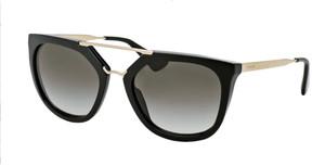 PRADA SPR 13Q 1AB-0A7 Black Square Women's 54 mm Sunglasses