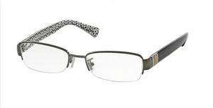 COACH HC5027B 9081 Dark Silver Rectangle Square Women's 52 mm Eyeglasses
