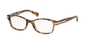 COACH HC6065 5287 Light Brown Rectangle Square Women's 49 mm Eyeglasses
