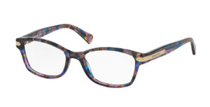 COACH HC6065 5288 Purple Tortoise Square Women's 51 mm Eyeglasses