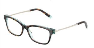 TIFFANY TF2204 8286 Havana Rectangle Square Women's 54 mm Eyeglasses
