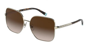 TIFFANY TF3078B 60213B Pale Gold Square Women's 60 mm Sunglasses