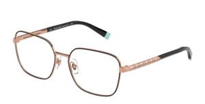 TIFFANY TF1140B 6161 Black on Rubedo Rectangle Square Women's 55 mm Eyeglasses