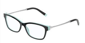 TIFFANY TF2204 8055 Black Rectangle Square Women's 54 mm Eyeglasses