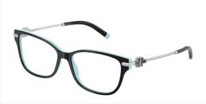 TIFFANY TF2207F 8055 Black On Tiffany Rectangle Women's 54 mm Eyeglasses