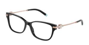 TIFFANY TF2207F 8339 Black Rectangle Square Women's 54 mm Eyeglasses