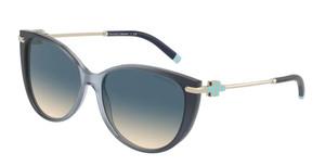 TIFFANY TF4178 83074M Opal Blue Cat Eye Women's 57 mm Sunglasses