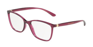 DOLCE & GABBANA DG5026 1754 Transparent Cherry Rectangle Women's 52 mm Eyeglasses