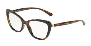 DOLCE & GABBANA DG5039 502 Havana Square Women's 52 mm Eyeglasses