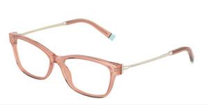 TIFFANY TF2204 8332 Peach Transparent Rectangle Square Women's 54 mm Eyeglasses