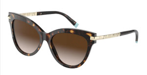 TIFFANY TF4182F 80153B Havana Cat Eye Women's 55 mm Sunglasses