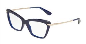 DOLCE & GABBANA DG5025 3094 Opal Blue Cat Eye Women's 53 mm Eyeglasses