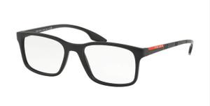 PRADA VPS 01L 1BO-1O1 Matte Black Rectangle Men's 52 mm Eyeglasses