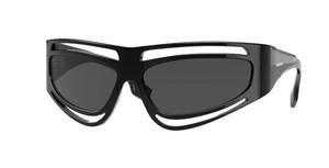 BURBERRY BE4342 300187 Black Rectangle Women's 65 mm Sunglasses