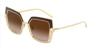 DOLCE & GABBANA DG2251H 132013 Brown Square Women's 51 mm Sunglasses