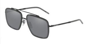 DOLCE & GABBANA DG2220 11066G Matte Black Square Men's 57 mm Sunglasses