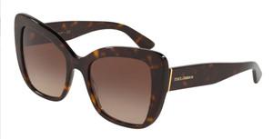 DOLCE & GABBANA DG4348 502 13 Havana Cat Eye Women's 54m Sunglasses
