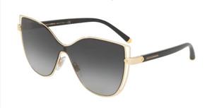 DOLCE & GABBANA DG2236 02 8G Gold Cat Eye Women's 28 mm Sunglasses
