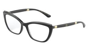 DOLCE & GABBANA DG5054 3246 Black Cat Eye Women's 54 mm Eyeglasses