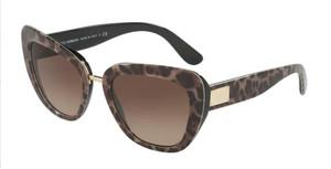 DOLCE & GABBANA DG4296 199513 Leoprint Cat Eye Women's 53 mm Sunglasses