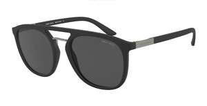 GIORGIO ARMANI AR8118 500187 Matte Black Square Men's 53 mm Sunglasses