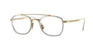 PERSOL PO5005VT 8005 Gold Silver Titanium Square Men's 48 mm Eyeglasses