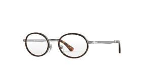 PERSOL PO2452V 513 Gunmetal Oval Women's 50 mm Eyeglasses