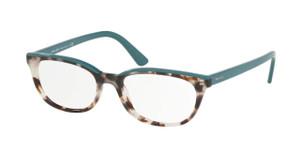 PRADA VPR 13V 475-1O1 Spotted Brown Oval Women's 51 mm Eyeglasses