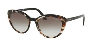 PRADA SPR 02V 398-0A7 Opal Spotted Brown Cat Eye Women's 54 mm Sunglasses