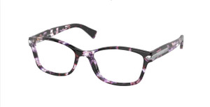 COACH HC6065 5548 Purple Tortoise Rectangle Women's 51 mm Eyeglasses