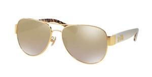 COACH HC7059 92496E Gold Aviator Women's 58 mm Sunglasses