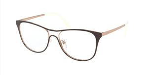 PRADA VPR 59X 331-1O1 Top Brown Cat Eye Women's 53 mm Eyeglasses