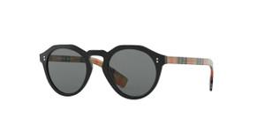 BURBERRY BE4280 375787 Black Round Men's 50 mm Sunglasses