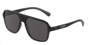 DOLCE & GABBANA DG6134 325787 Transparent Black Square Rectangle Men's 57 mm Sunglasses