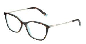 TIFFANY TF2205 8134 Havana Rectangle Square Women's 53 mm Eyeglasses