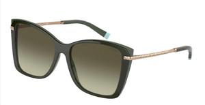 TIFFANY TF4180 83303M Green On Dark Square Rectangle Women's 56 mm Sunglasses