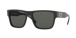 VERSACE VE4379 GB1 87 Black Square Men's 56 mm Sunglasses