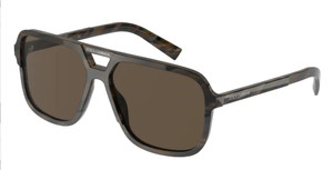 DOLCE & GABBANA DG4354 311873 Brown Square Men's 61 mm Sunglasses