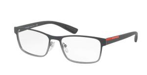 PRADA VPS 50G U6U-1O1 Grey Gradient Square Rectangle Men's 53 mm Eyeglasses