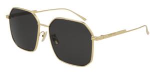 BOTTEGA VENETA BV1108SA 001 Gold Women's 58 mm Sunglasses