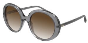 CHLOE CH0007S 003 Grey Round Women's 54 mm Sunglasses
