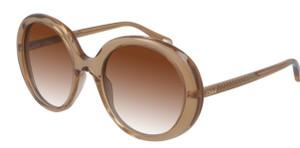 CHLOE CH0007S 001 Orange Round Women's 54 mm Sunglasses