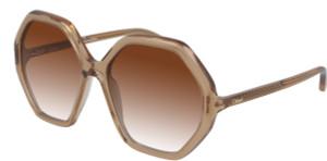 CHLOE CH0008SA 001 Orange Square Women's 58 mm Sunglasses