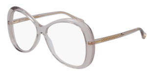 CHLOE CH0011O 002 Pink Transparent Oval Women's 56 mm Eyeglasses