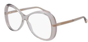 CHLOE CH0011O 001 Orange Transparent Oval Women's 56 mm Eyeglasses