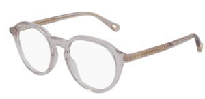 CHLOE CH0012O 001 Pink Transparent Round Women's 47 mm Eyeglasses