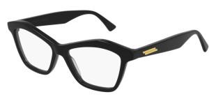 BOTTEGA VENETA BV1096O 001 Black Cat Eye 54 mm Eyeglasses