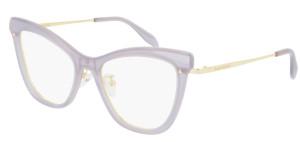 ALEXANDER MCQUEEN AM0265O 002 Violet Cat Eye Women's 52 mm Eyeglasses