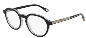 CHLOE CH0012O 003 Black Round Women's 47 mm Eyeglasses